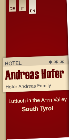 Hotel Andreas Hofer in Luttach in the Ahrn Valley - South Tyrol